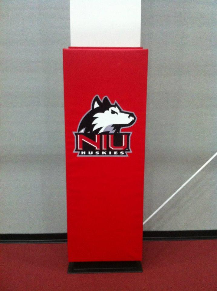 Custom Column Gym Wall Pads Corner Gym Wall Pads Aalco