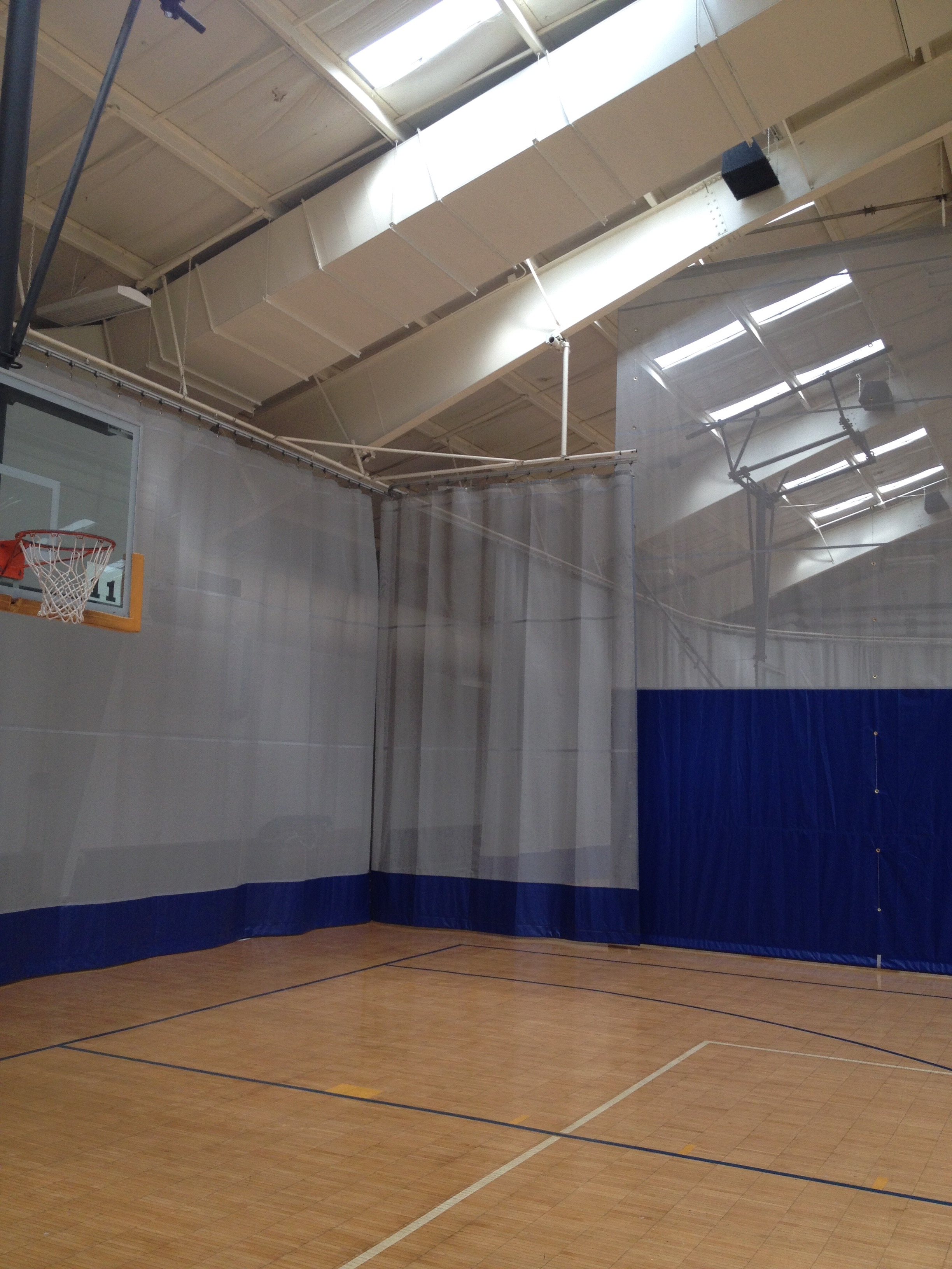 Walk Draw Curtain Gym Curtain Aalco Aalco Manufacturing