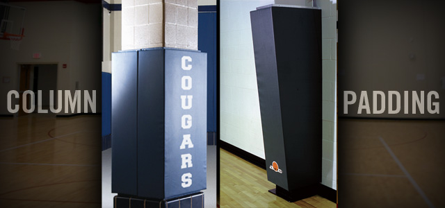 Custom Column Gym Wall Pads Corner Gym Wall Pads Aalco