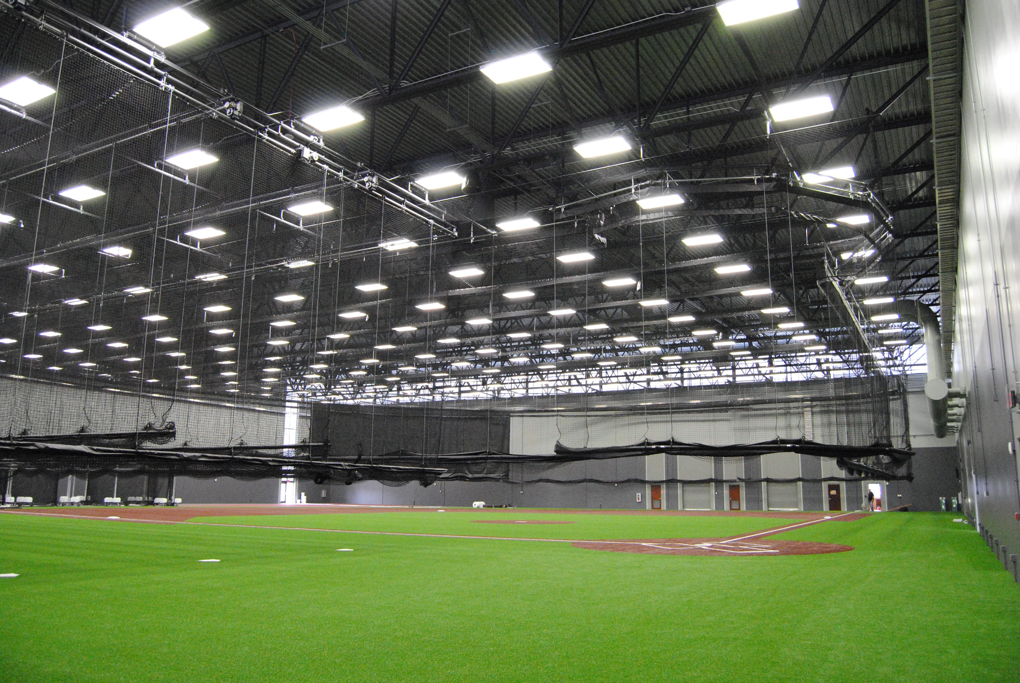 Training Cage System On Deck Sports Retractable Ceiling